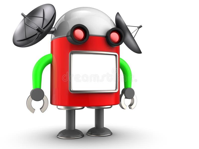 droid 3d au-dessus de blanc illustration stock