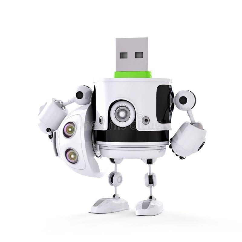 Droid d'USB illustration libre de droits