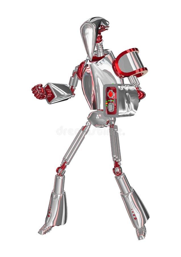Droid de combate ilustração do vetor