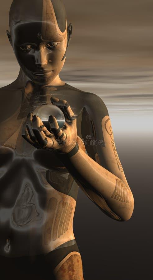 Droid femelle illustration libre de droits