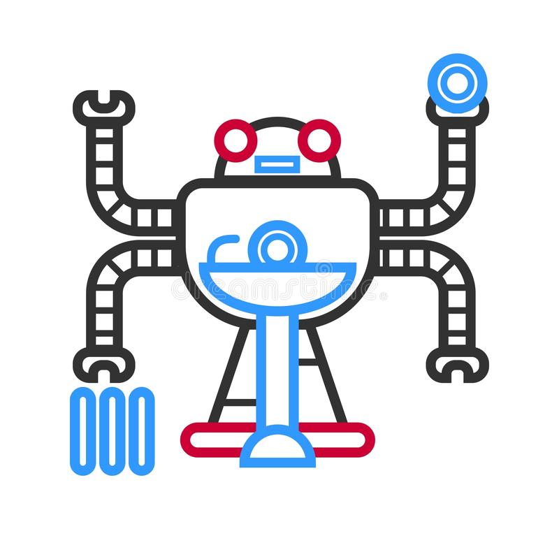 Droid futuriste multitâche illustration stock