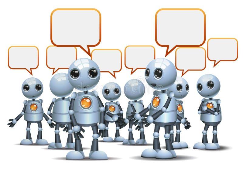 droid heureux peu de robot causant sur le blanc d'isolement illustration libre de droits