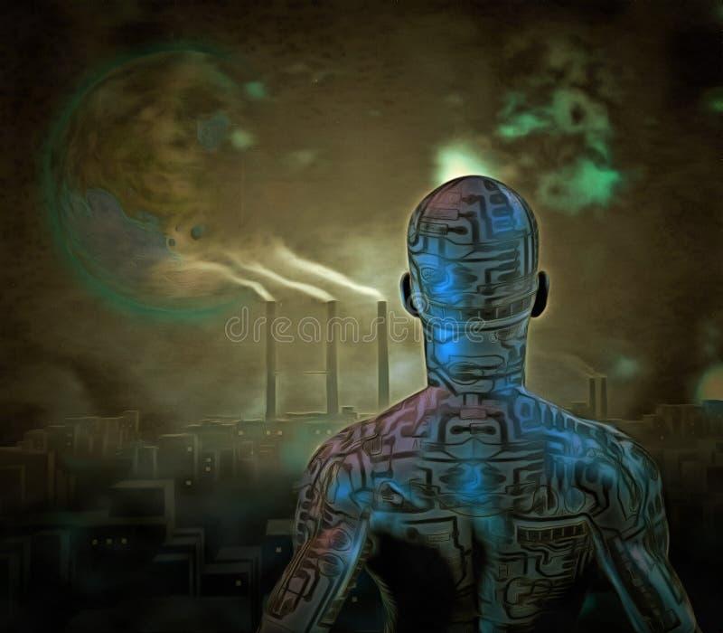 droid royaltyfri illustrationer