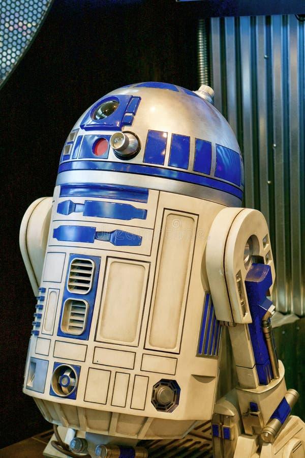 Droid R2-D2 Roboter von Star Wars-Nahaufnahme lizenzfreie stockfotos