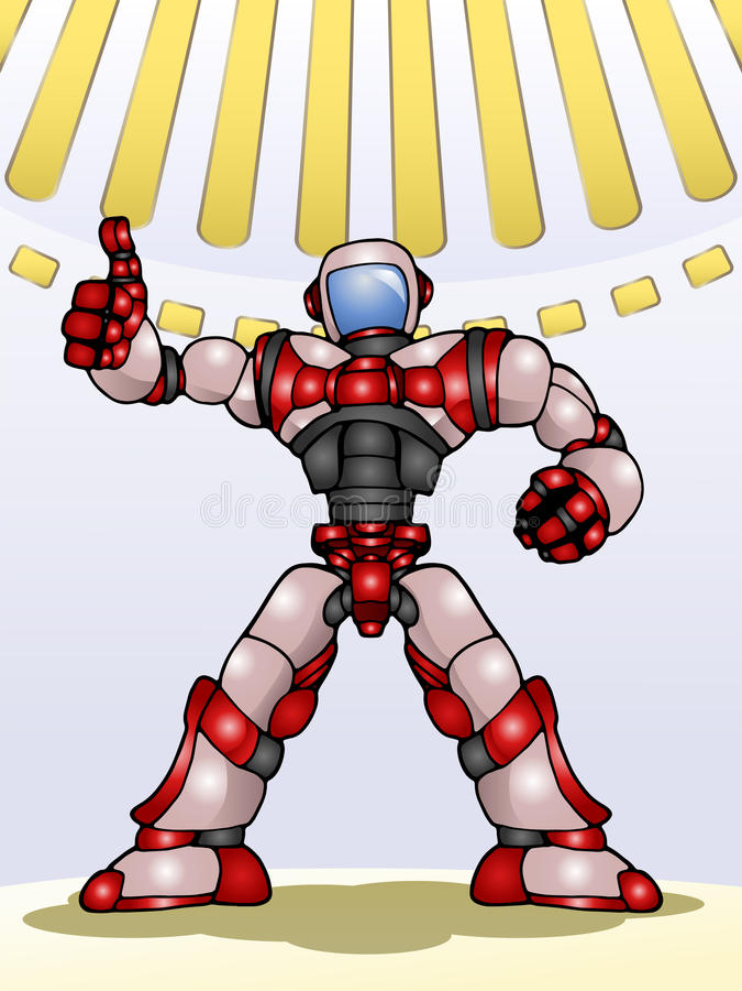 Droid robota kciuk up ilustracja wektor