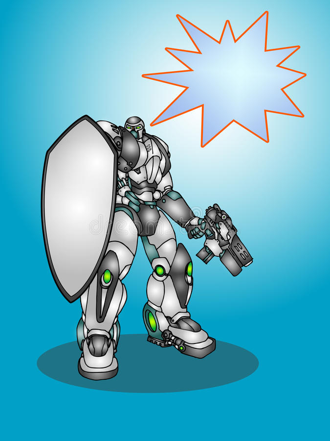 droidrobot stock illustrationer