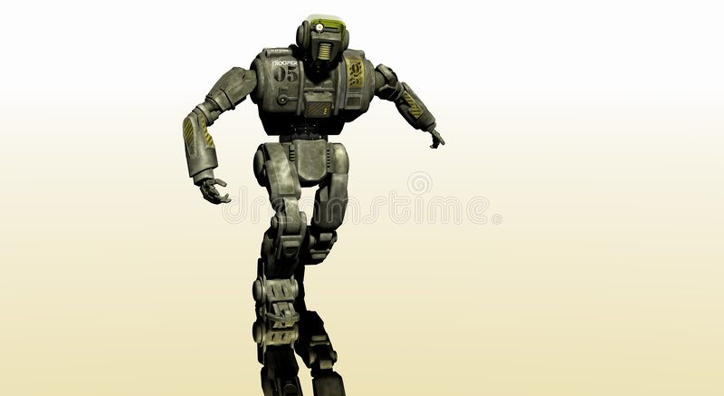 droidrobot vektor illustrationer
