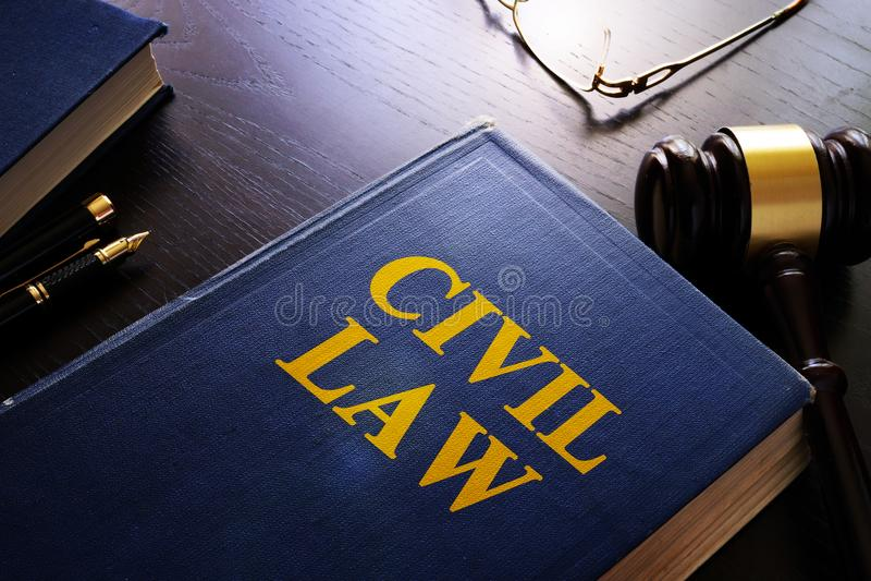 Droit Civil et marteau images libres de droits