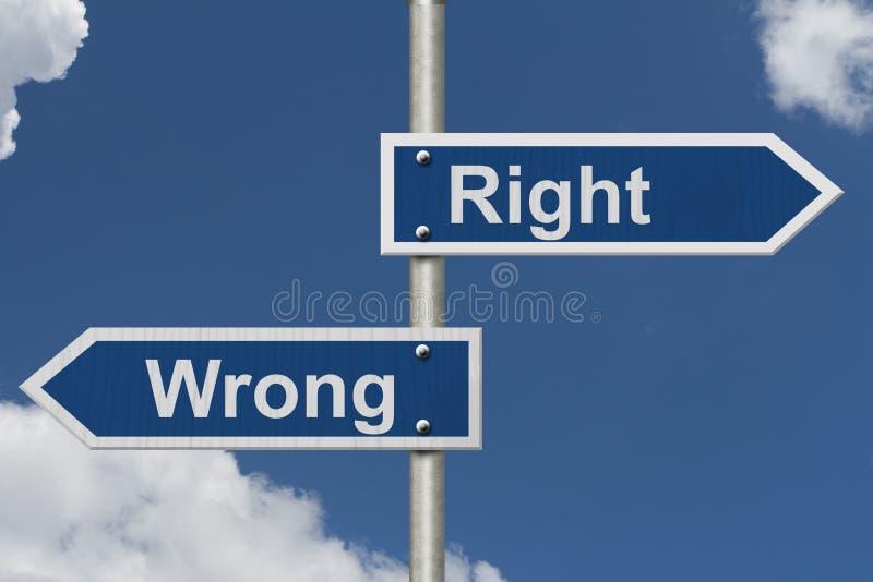 Droit contre le mal image libre de droits