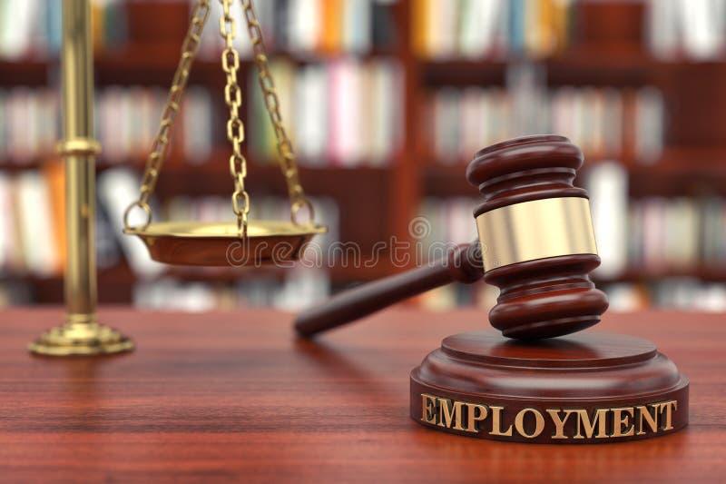 Droit de l'emploi image libre de droits