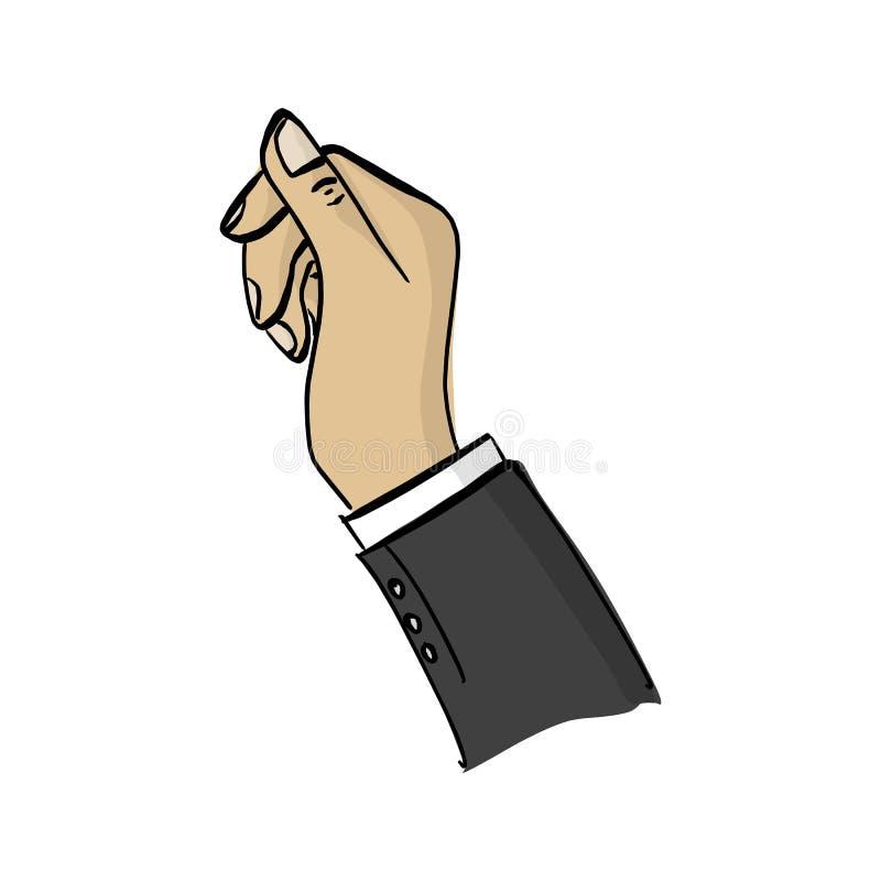 Droit du griffonnage de croquis d'illustration de vecteur d'homme d'affaires tiré par la main avec les lignes noires d'isolement  illustration de vecteur