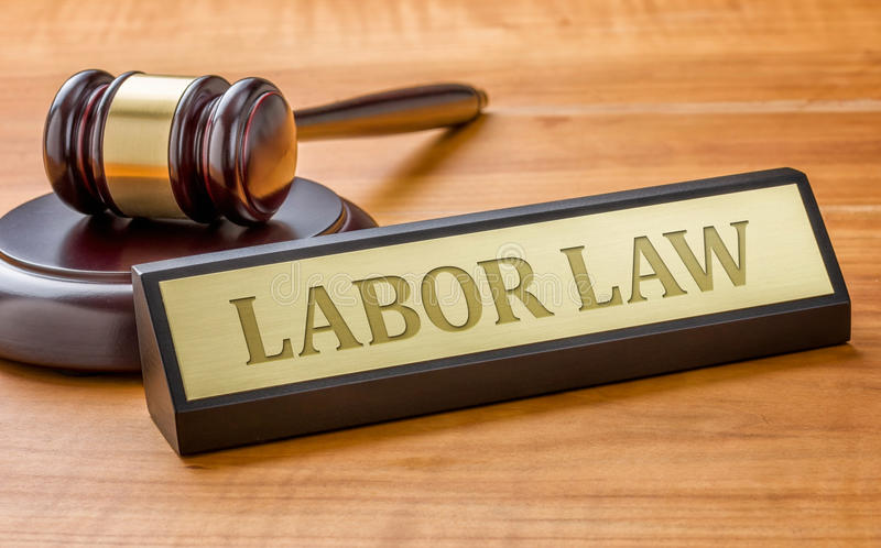 Droit du travail image libre de droits