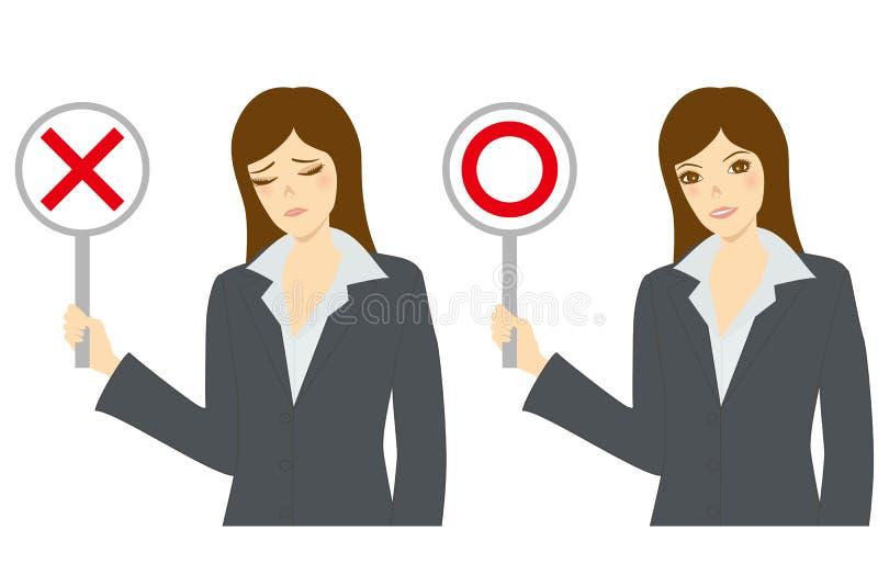Droit ou mal illustration de vecteur