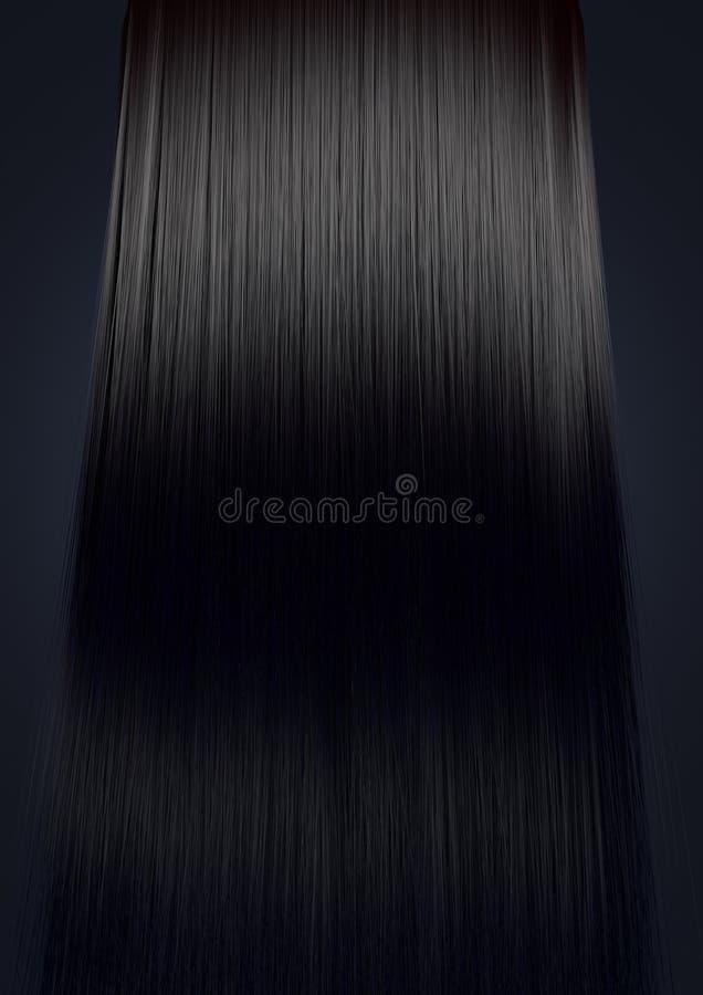 Droit parfait de cheveux noirs images libres de droits