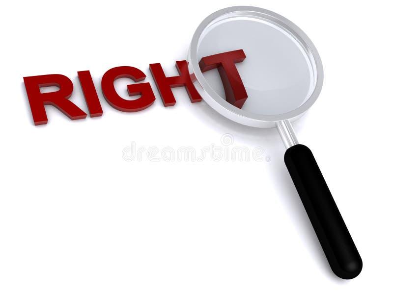 droite illustration libre de droits