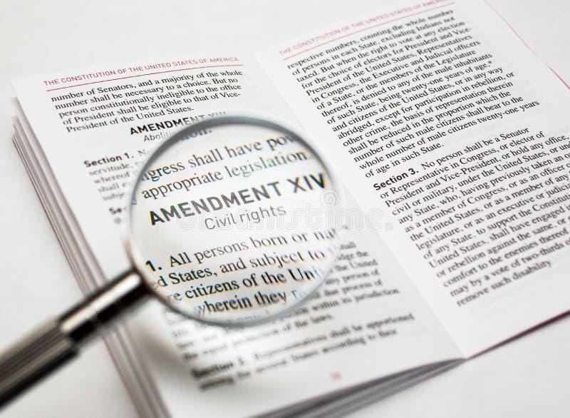Droits civiques dans la constitution des Etats-Unis photos stock