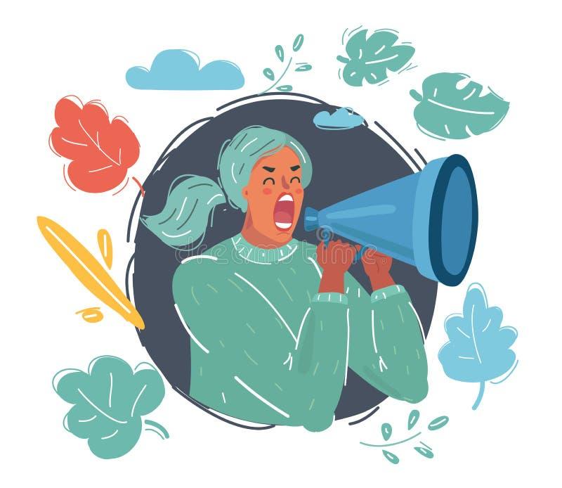 Droits de femme, égalité de salaires, le féminisme, genre illustration libre de droits