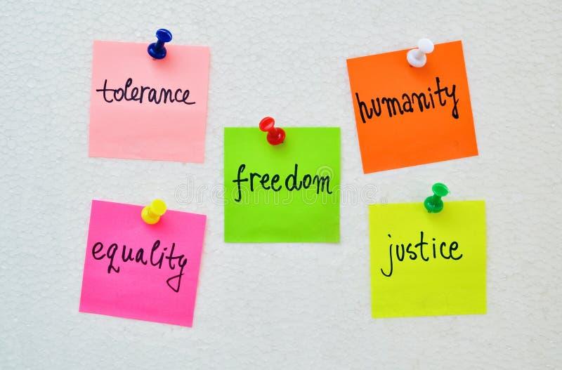 Droits de l'homme D images libres de droits