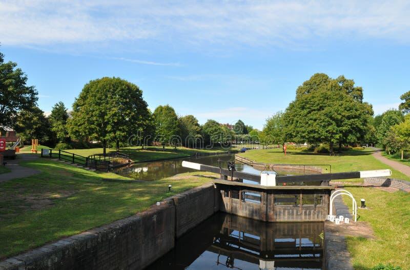 Droitwich Kanal stockbild