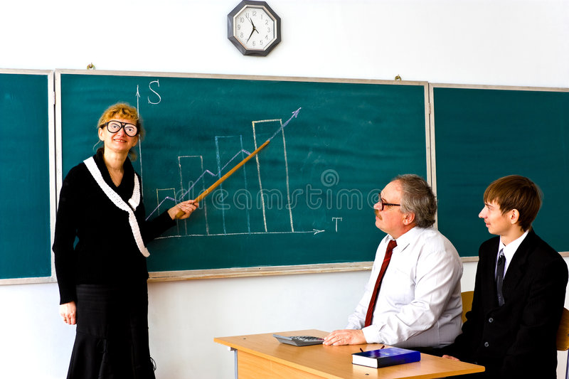 Droll Lecturer Stock Photography