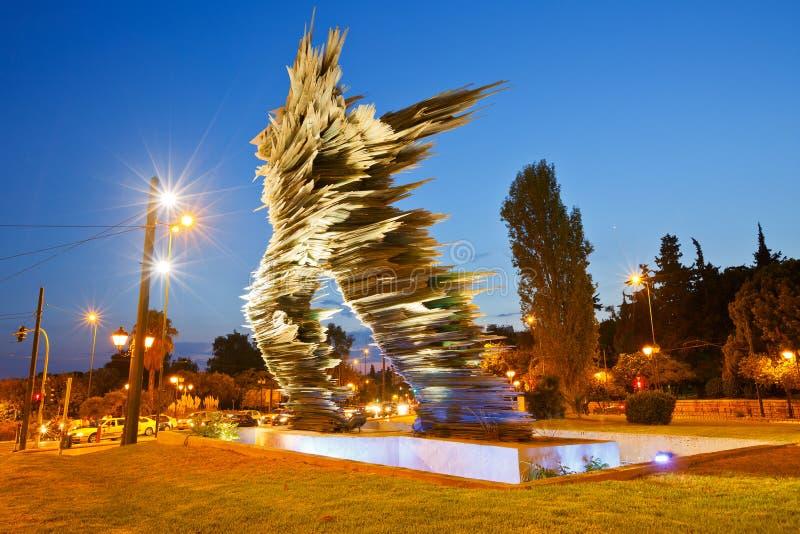 Dromeas statue stock photography