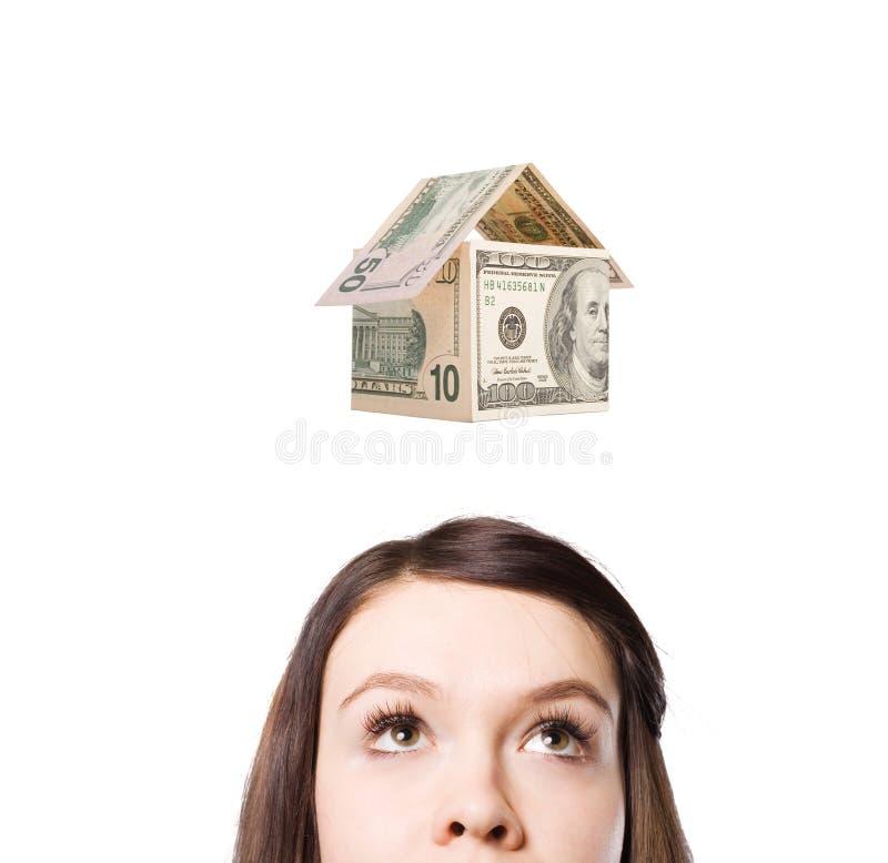 Dromen van geld. stock afbeeldingen