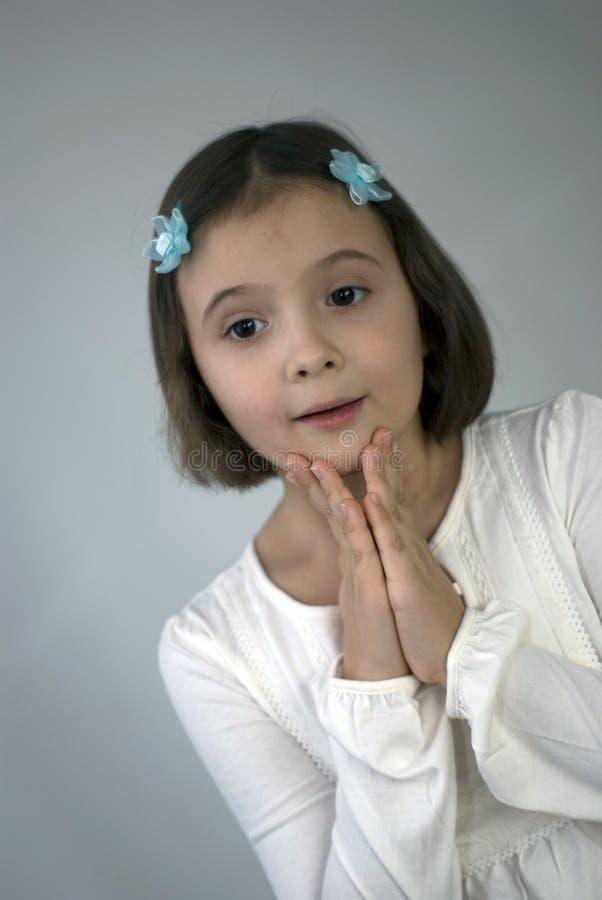 Dromend meisje royalty-vrije stock foto's