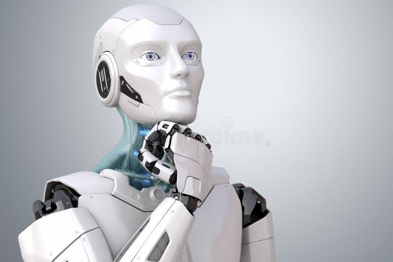 Dromende androïde robot royalty-vrije illustratie