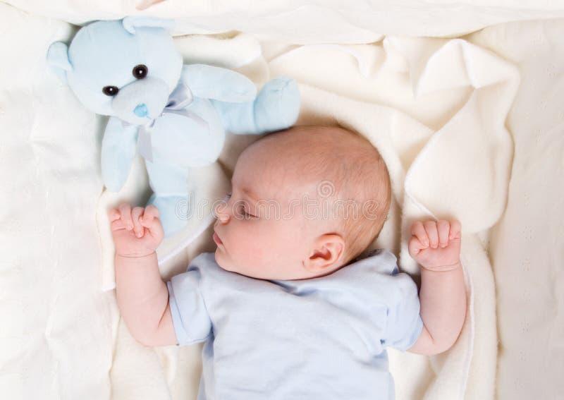 Dromende baby royalty-vrije stock foto