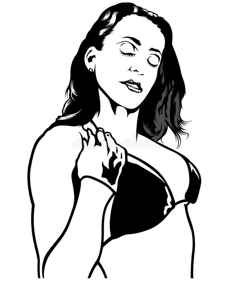 Dromerig meisje vector illustratie