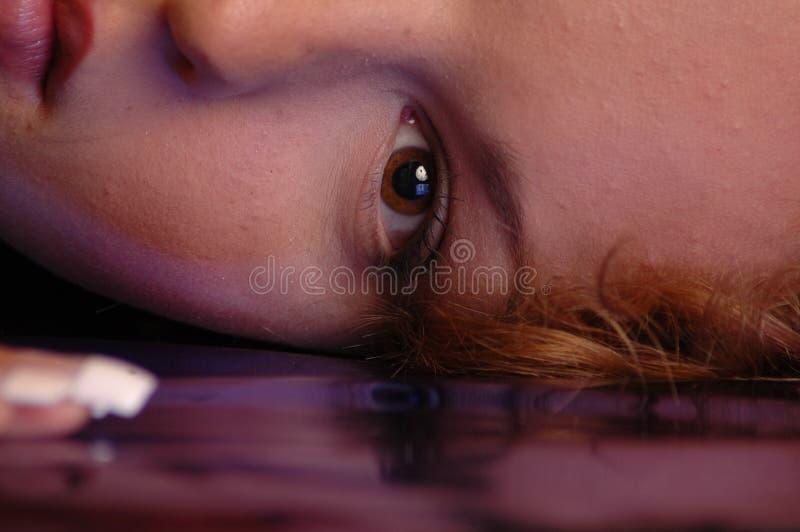 Dromerig oog royalty-vrije stock foto