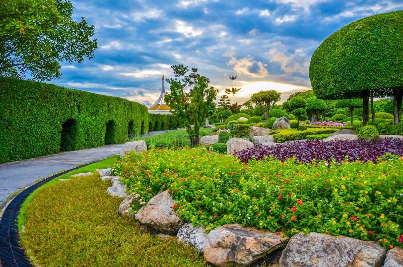 Dromerig park royalty-vrije stock afbeelding