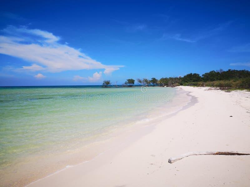 Dromerig strand Cayo Jutias stock fotografie