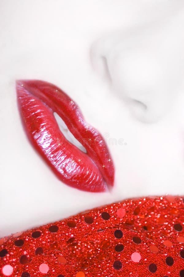 Dromerige lippen royalty-vrije stock foto
