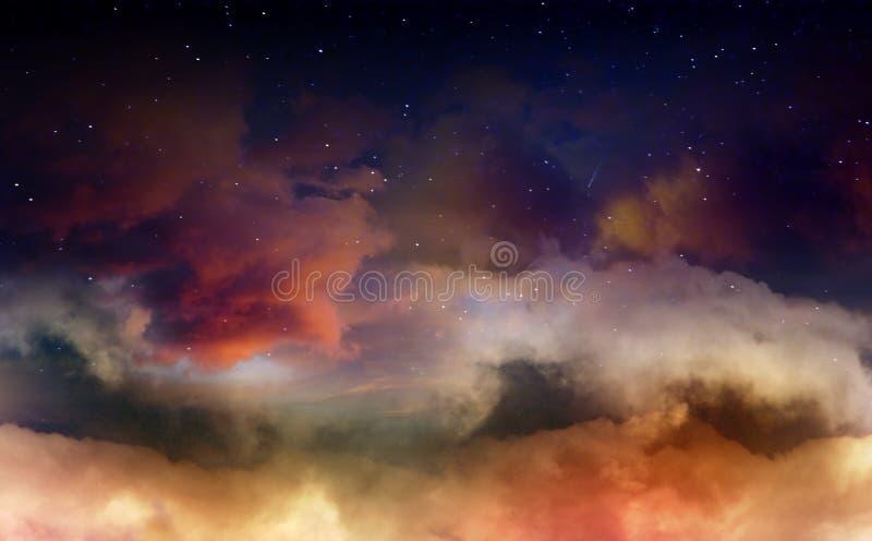 Dromerige nachthemel royalty-vrije stock afbeeldingen