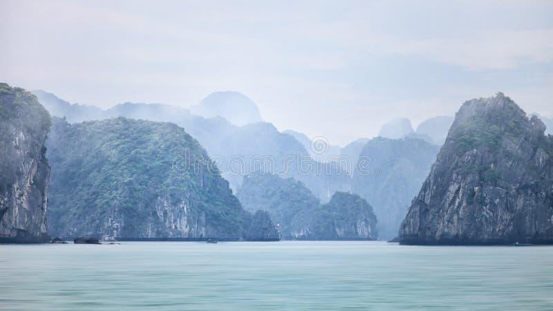 Dromerige vage zeegezichtachtergrond royalty-vrije stock foto