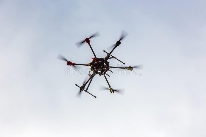 Dron de Hexcopter fotografia de stock