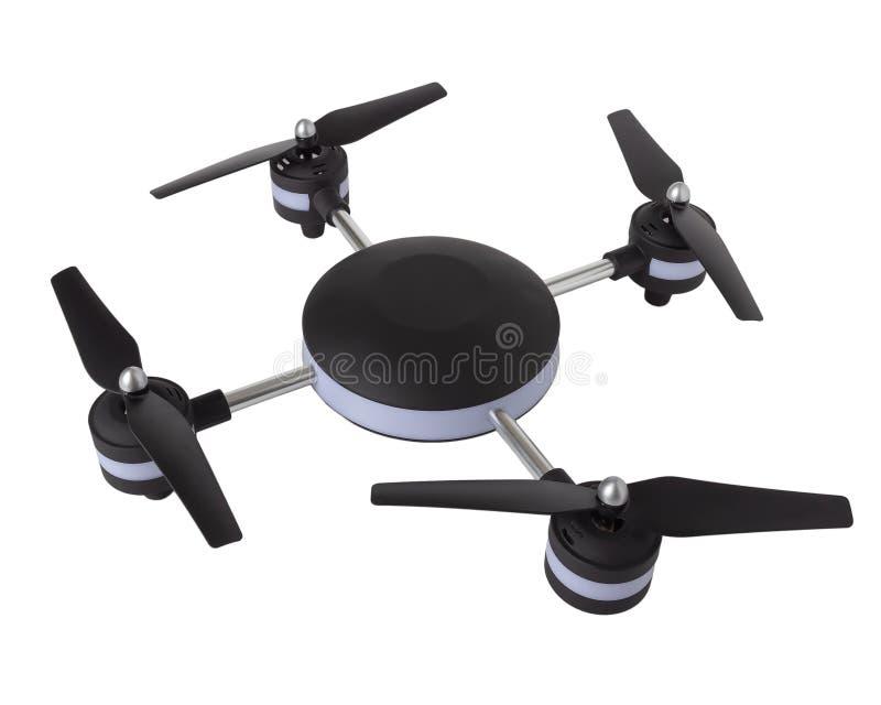 Dron en un fondo blanco, quadrocopter aísla stock de ilustración