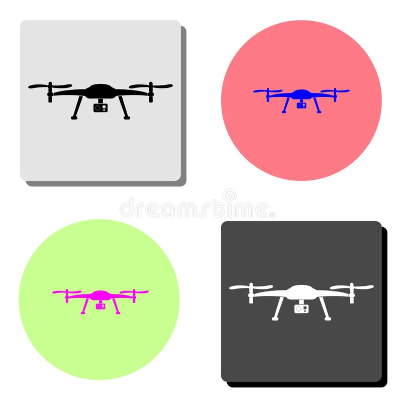 Drone aerial camera. flat vector icon royalty free illustration