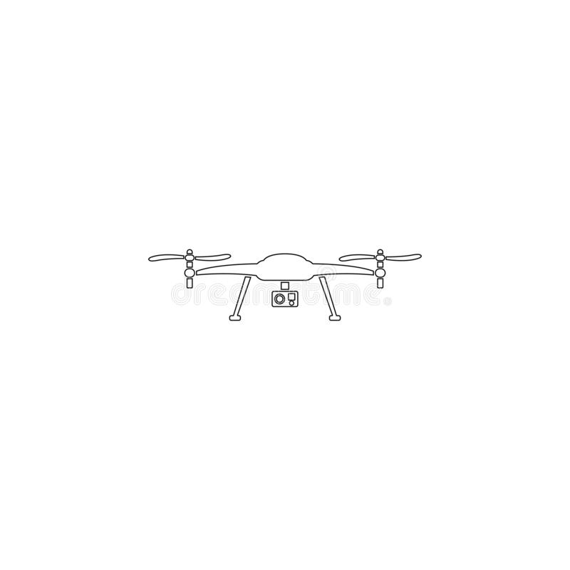 Drone aerial camera. flat vector icon vector illustration