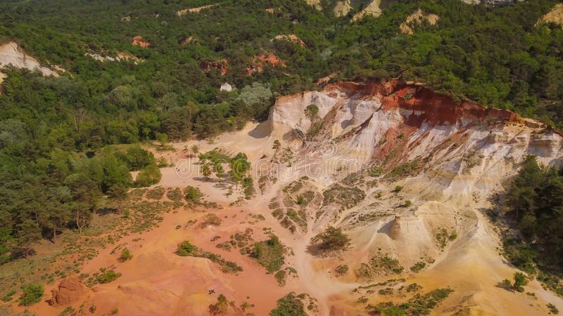 Drone aerial view of deforestation in a dry desert environment. Drone. dcim100mediadji_0006.jpg, dcim100mediadji_0006jpg, sand, cutting, trees, planet, global stock photography