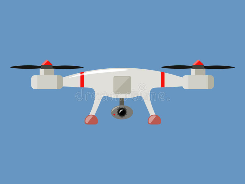 Drone with camera royalty free stock image