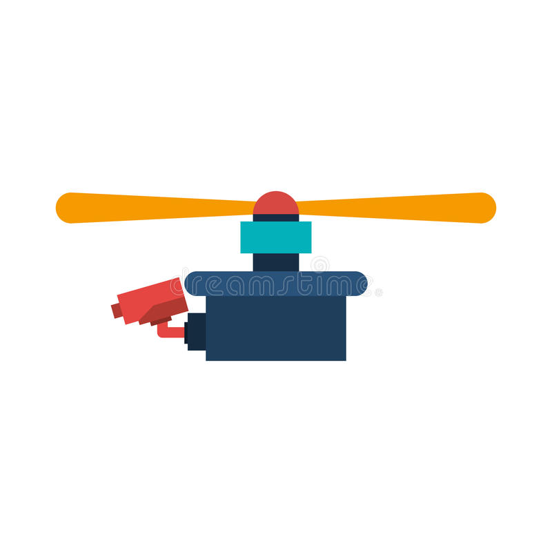 Drone with camera and one airscrew. Vector illustration vector illustration