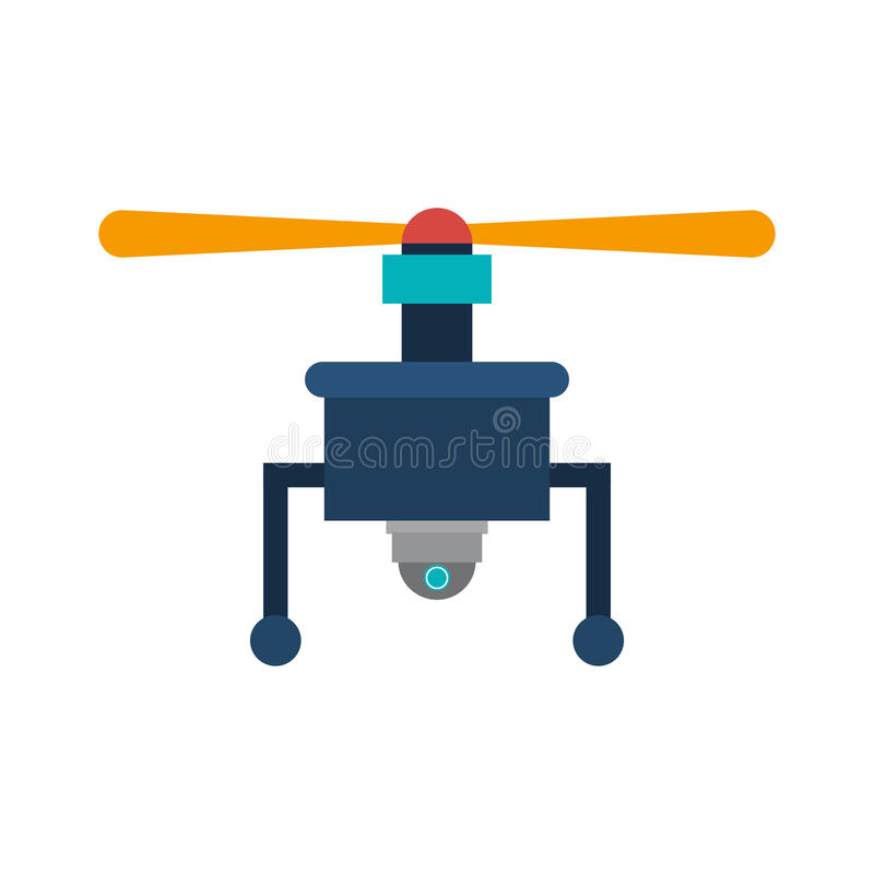 Drone with camera and one airscrew. Vector illustration stock illustration