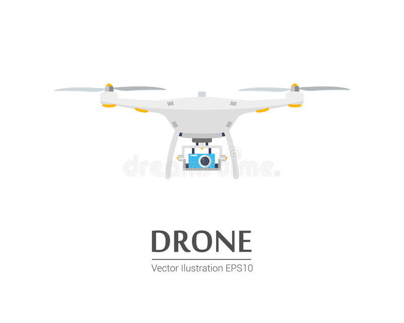 Download Drone With A Camera Taking Photography Or Video Recording Vector Icon On Isolated Background