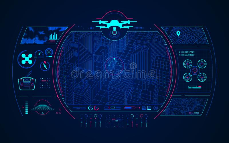 Drone control royalty free illustration