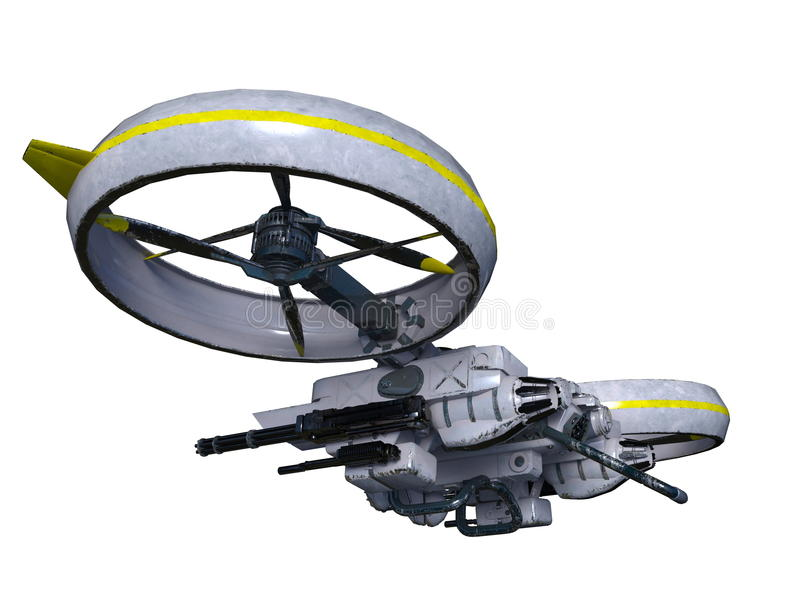 Drone. 3D CG rendering of a drone vector illustration