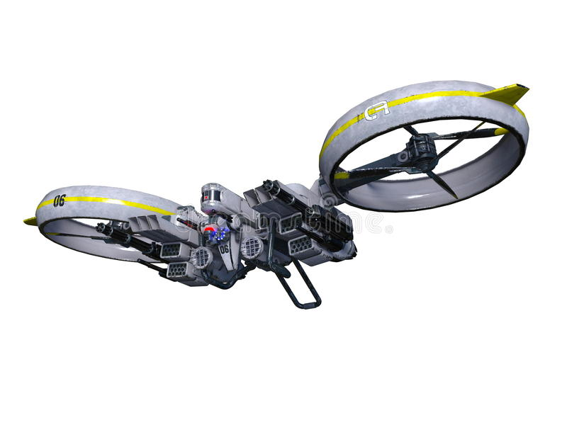 Drone. 3D CG rendering of a drone stock illustration