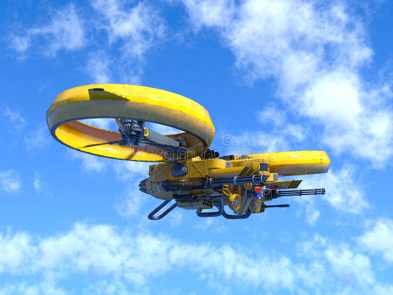 Drone. 3D CG rendering of a drone royalty free illustration