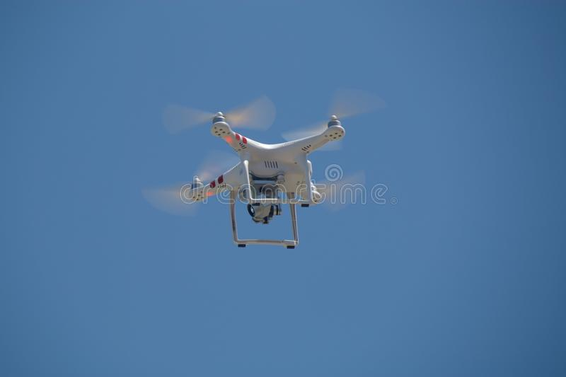 Drone filming in the sky royalty free stock photos